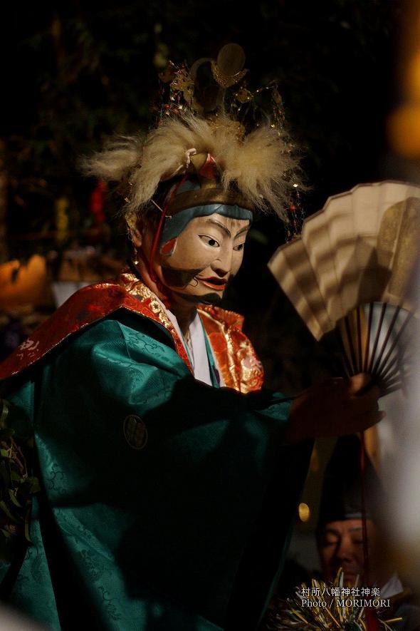 村所八幡神社神楽 (村所神楽)14番 八幡様(はちまんさま)