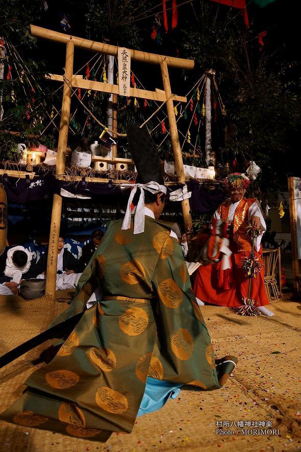 村所八幡神社神楽 (村所神楽)22番 荒神の舞 (こうじん)