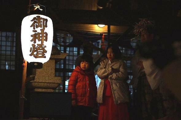 三納代八幡神社にて