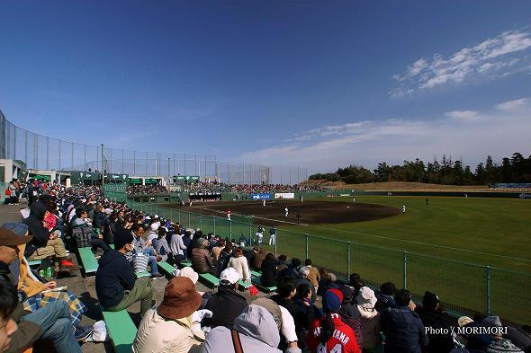 オリックス・バファローズキャンプにて 広島東洋カープとの練習試合