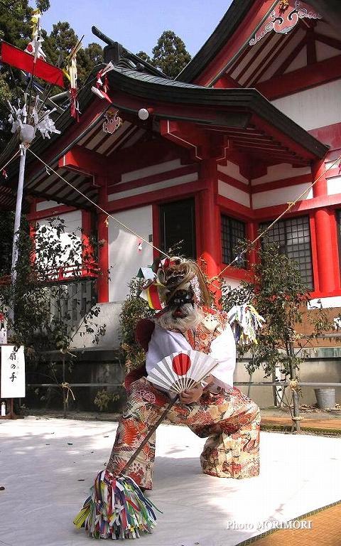 大塚神社神楽(扇の舞)