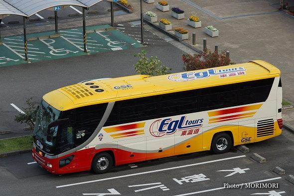 香港のEGLツアーズのインバウンドツアーの専用バス(GSE南薩観光のバス)