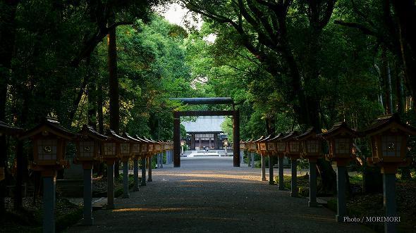 宮崎神宮 参道の灯篭 1