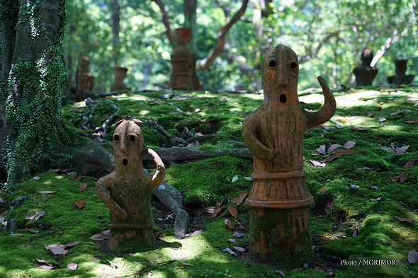 埴輪(ハニワ)宮崎市平和台公園 はにわ園にて
