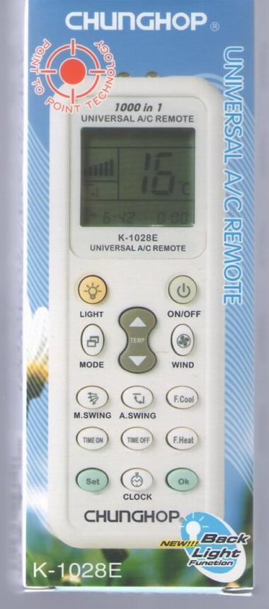 各社対応汎用エアコンリモコン-520012 K-1028E