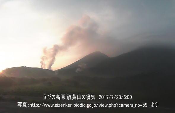 えびの高原 硫黄山の噴気