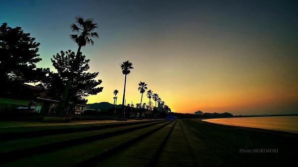青島ビーチサンセット