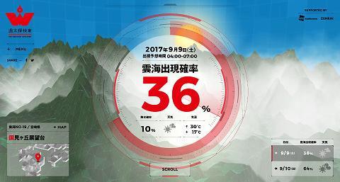 雲海出現NAVI 9月10日(日) 高千穂町国見ヶ丘