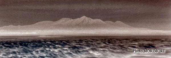 霧島連山(画像加工)