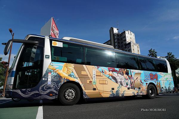 宮崎交通 神話ラッピングバス 日本をはじめた神々の国 宮崎 3