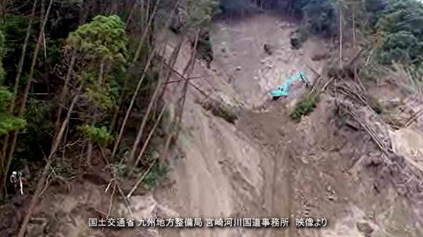 国土交通省 九州地方整備局 宮崎河川国道事務所 映像より