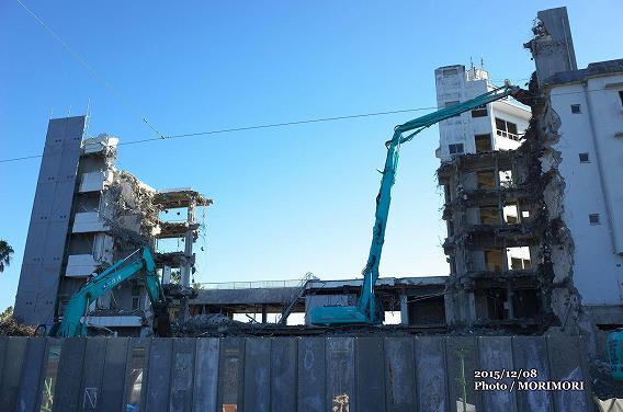 旧青島観光ホテル 解体現場