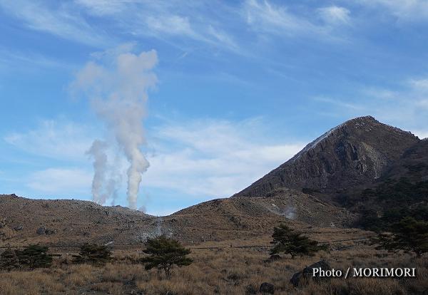 硫黄山の噴気