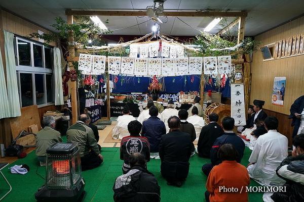 五ケ瀬町「古戸野神社神楽」神事