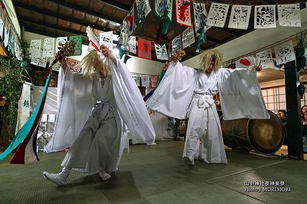 山中神社夜神楽(尾狩神楽)4番 鎮守(ちんじゅ)