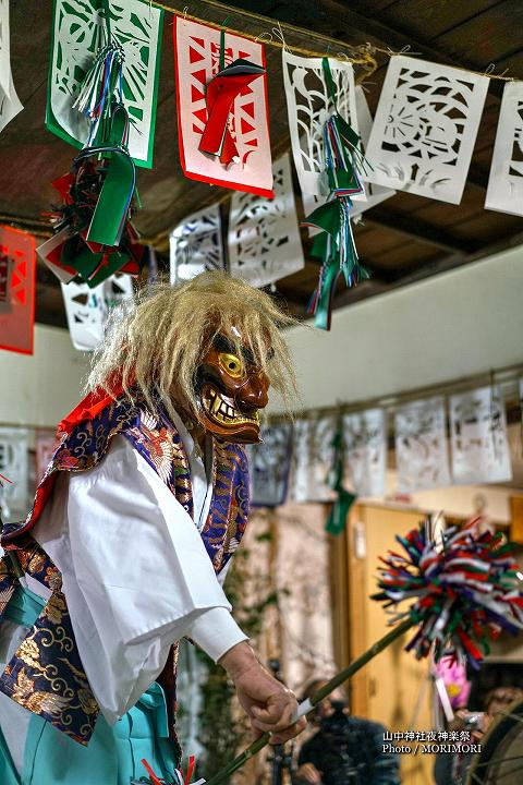 山中神社夜神楽(尾狩神楽) 6番 山中様