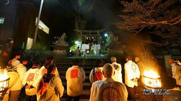師走祭り 神門神社での一番神楽(比木神社神楽)