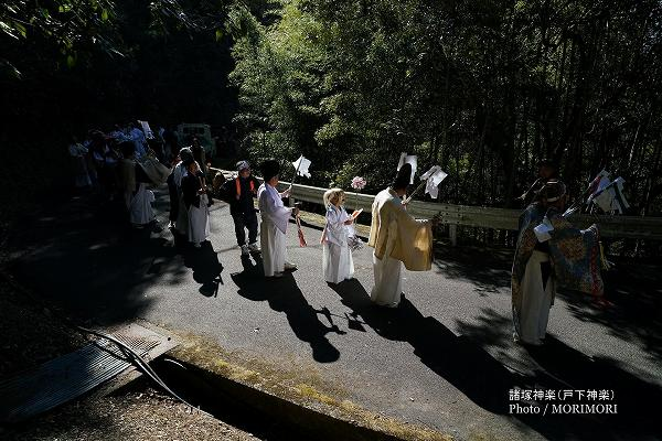 戸下神楽 白鳥神社〜道行〜舞込み