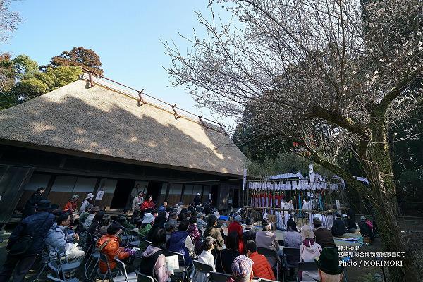 宮崎県総合博物館 民家園での 穂北神楽 会場の様子