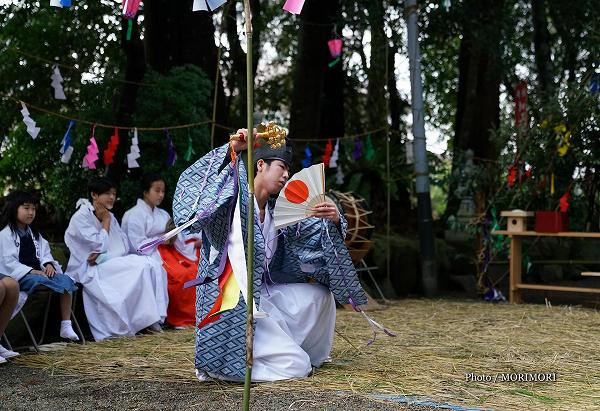 加江田神社 神楽 奉仕者舞