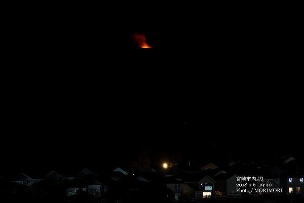 新燃岳噴火 宮崎市内より撮影
