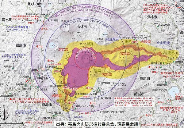 2011年新燃岳噴火の際の被害状況