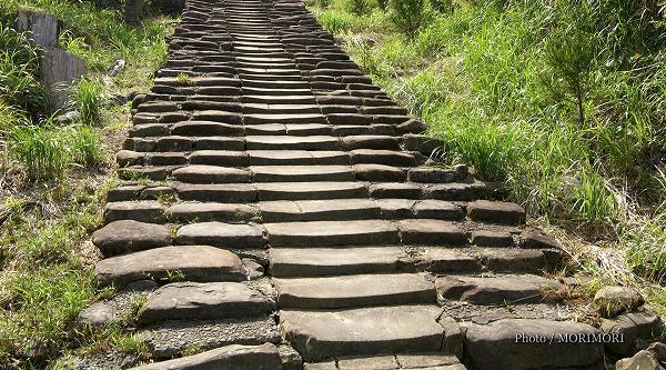 鵜戸神宮 参道の擦り減った石段