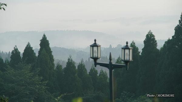 白鳥温泉上湯 客室窓から見た景色