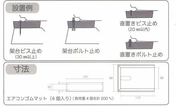 HMD エアコン用防振ゴム hmd-3020 パッケージより