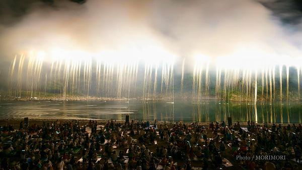 2018年 西米良村 やまびこ花火大会  6 ナイアガラ