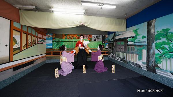 国富町 本庄稲荷神社夏祭りにて「歌舞伎人形」