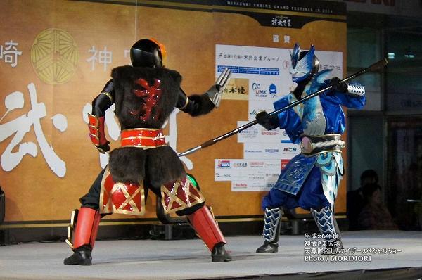 宮崎の覆面のご当地ヒーロー「天尊降臨ヒムカイザースペシャルショー」にて