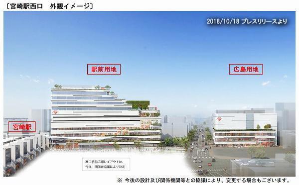 宮崎駅西口 JR宮交ツインビル外観イメージ