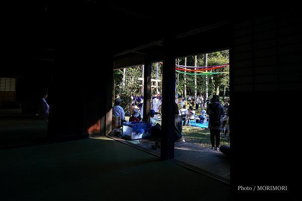 宮崎県総合博物館民家園で、西米良「村所神楽」