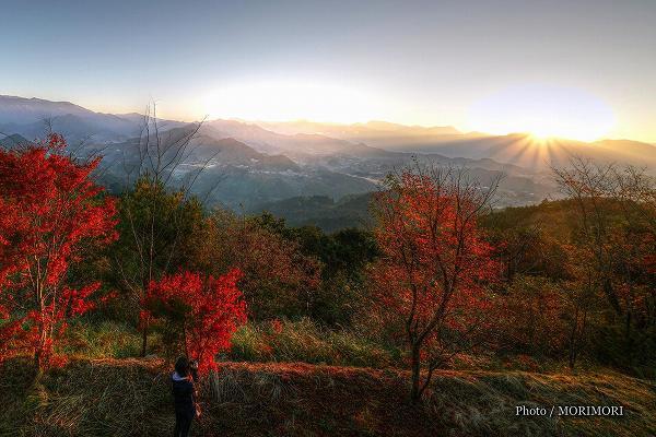 高千穂 国見ヶ丘にて 日の出