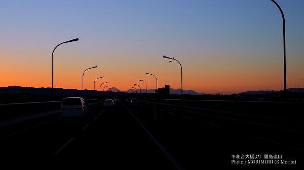平和台大橋から見た「霧島連山」