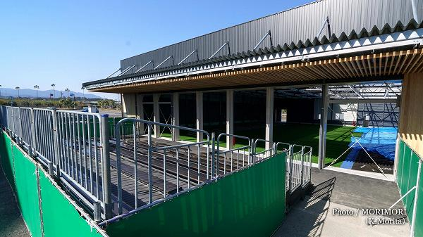 2019年1月完成新ブルぺン(宮崎県総合運動公園サンマリンスタジアム横)