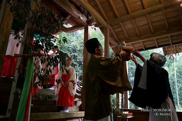 潮嶽神社 春大祭 献饌