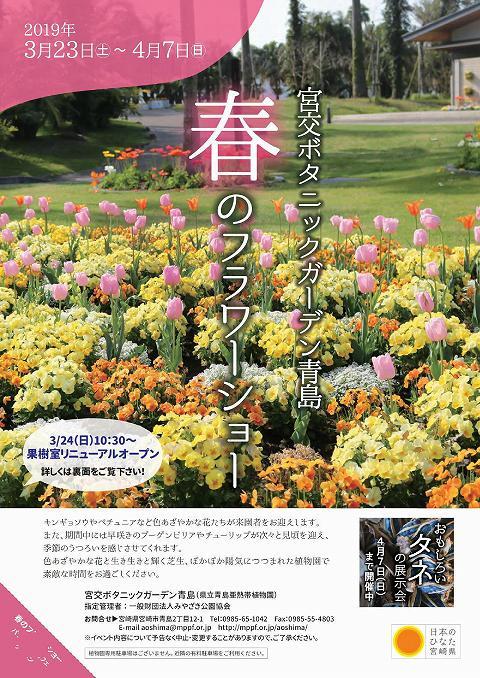 宮交ボタニックガーデン青島 春のフラワーショー