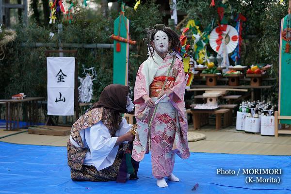 高屋神社神楽 「金山〜嫁女舞」