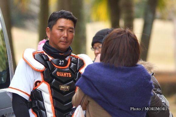 巨人 実松選手 2016年 春季宮崎キャンプにて