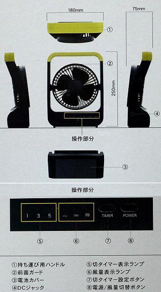 トップランド TOPLAND SF-DF30BK(3電源扇風機)