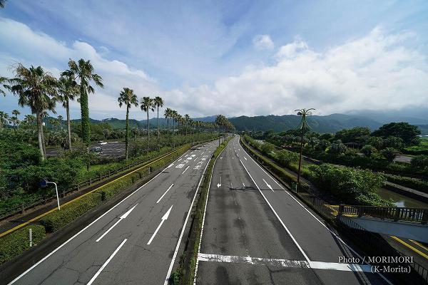 国道220号 宮崎県総合運動公園駅付近