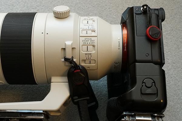 Peak Design(ピークデザイン)アンカー リンクス 望遠レンズ側にアンカーハウジングを装着した場合