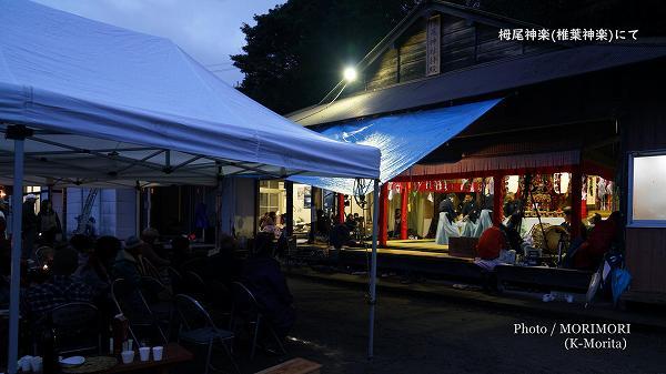 栂尾神社拝殿 栂尾(つがお)神楽にて