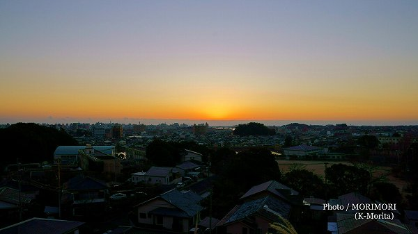 初日の出(宮崎市大塚台より)