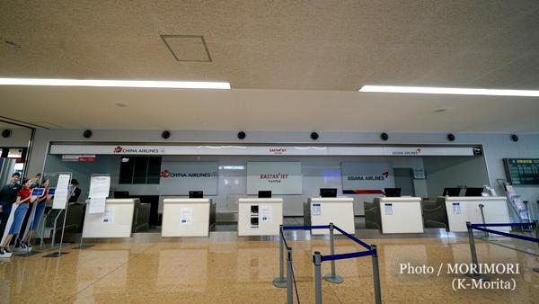 宮崎ブーゲンビリア空港 国際線カウンター