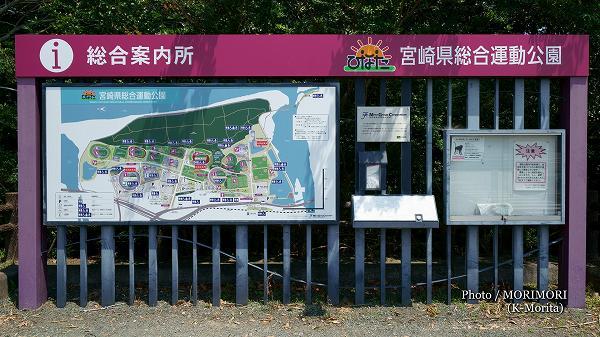 ひなた宮崎県総合運動公園 案内版