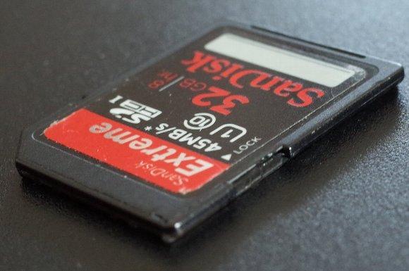 SanDiskのSDHCカード