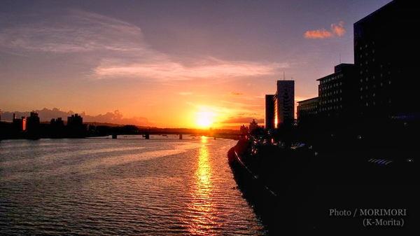 大淀川の夕景 たまゆら